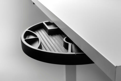 Drehbare Schreibtischschubladeextra Fächer für MaterialienFarbe schwarz