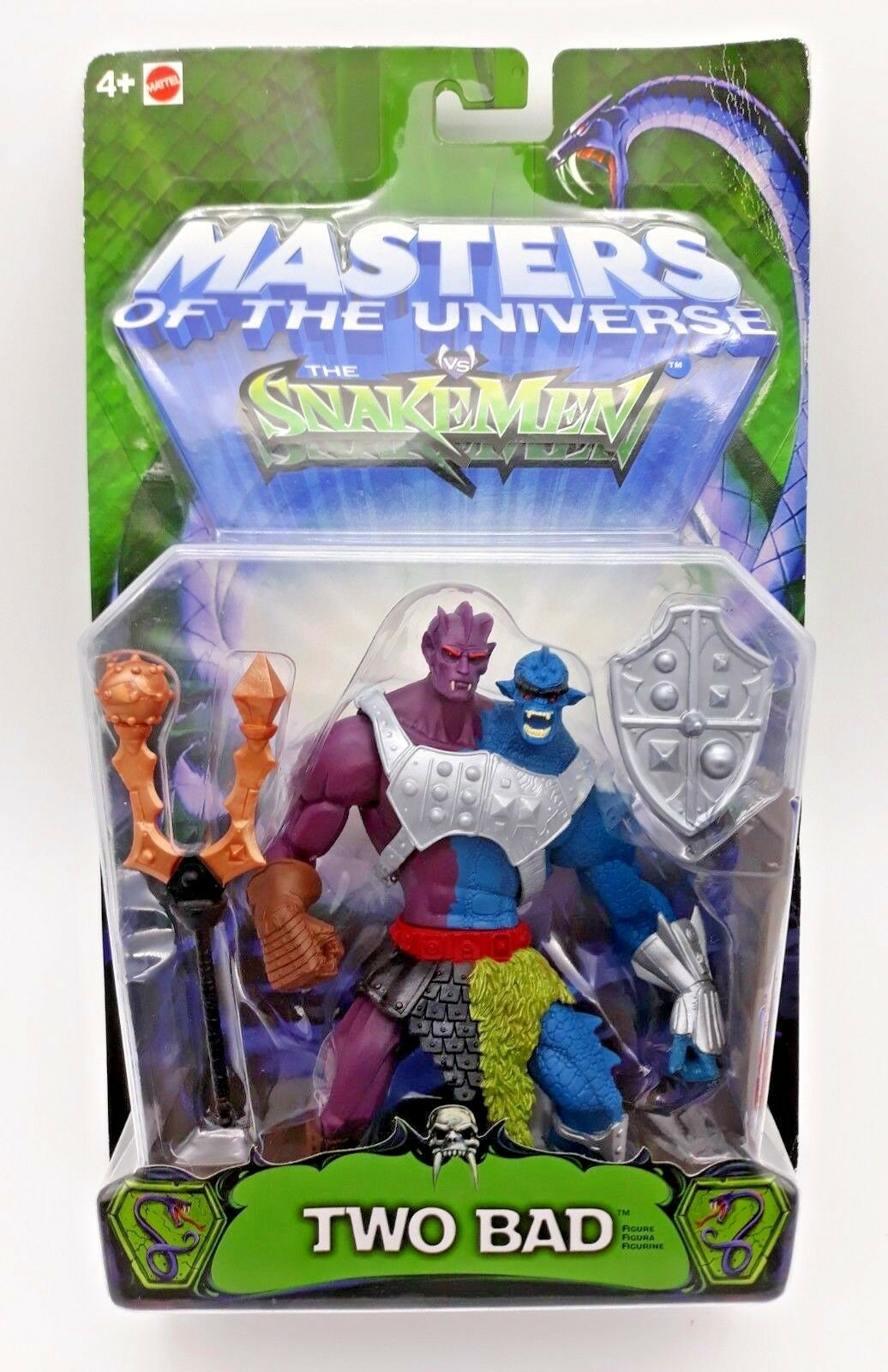 2003 série moderne motu he-man masters of the universe vs snakemen deux mauvaise