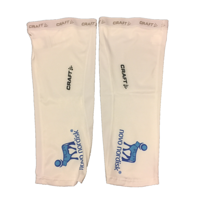 New 2017 Men/'s Craft Team Novo Nordisk EBC Cycling Arm Warmers Size S White