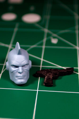 Custom Resin Soldier Head Cast for 6in figure Blaster Kree 1:12 Captain Marvel