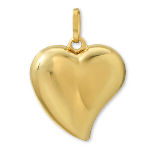14k-Yellow-Gold-Puffed-Heart-Charm-Pendant