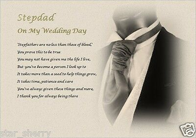 STEPDAD//STEPFATHER on our wedding Day Laminated Gift