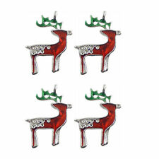 Colorful Enamel Mini Xmas Crutches Gold Alloy Jewelry Pendants Charms 18pcs//lot