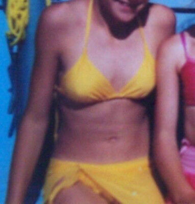 Bodybuilding Triangle Bikinis Lycra Small Black Yellow Orange /& Turquoise 6