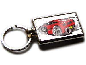 Lamborghini Gallardo Rear View Car Koolart Chrome Keyring Picture