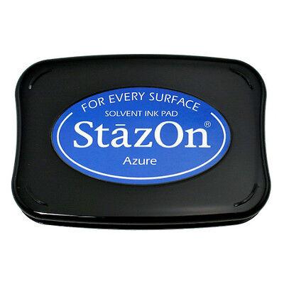 Tsukineko Stazon Ink Pads Solvent Ink Pad Includes Opaque Metallic & Reinker!