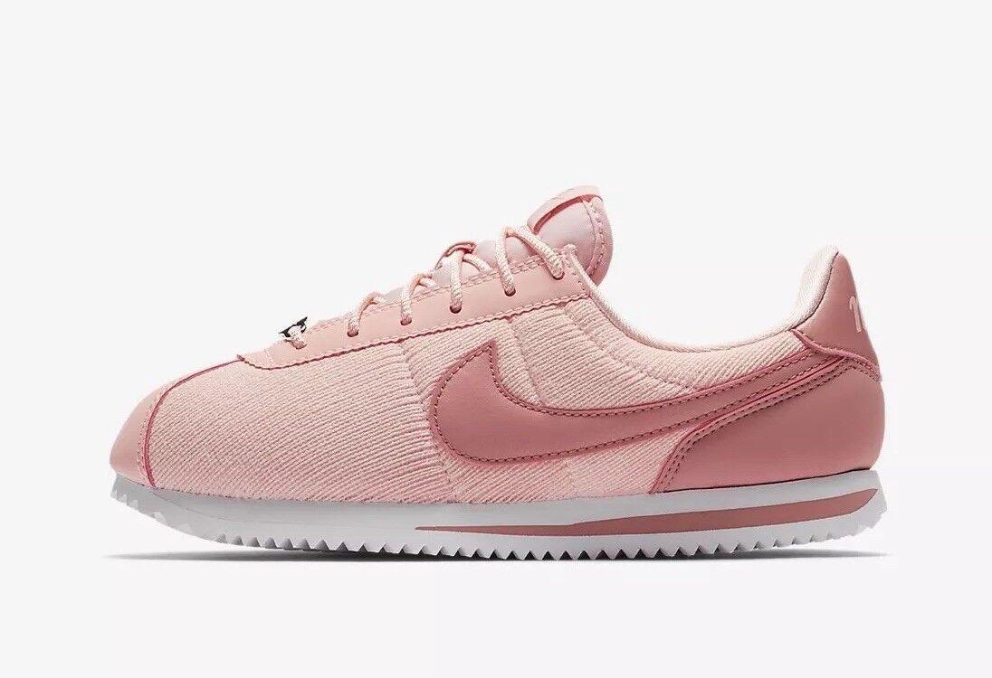 Nike Cortez Basic TXT SE (GS) Youth AA3498-600 Pink Size UK 6 EU 40 US 7Y New