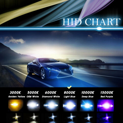 Autovizion Xenon Light Metal HID KIT for H4 H7 H10 H11 H13 9006 94 97 for Dodge