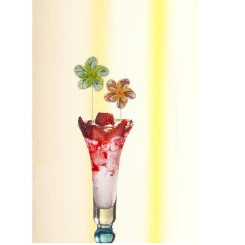 DECO Picker Moulin à vent Partypicker 50 pcs 17,5 cm en couleur triés de PAPSTAR