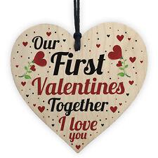 First Valentines Gift For Boyfriend Girlfriend 1st Valentines Card For Him Her  sc 1 st  eBay & Wooden Heart Card Valentines Day Gift for Him and Her Love Couple ...