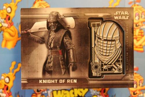 STAR WARS THE RISE OF SKYWALKER COMMEMORATIVE MEDALLION CARD MC-KR KNIGHT OF REN