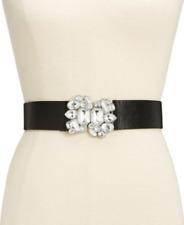 Black, M//L INC International Concepts Women's Lace /& Stone Stretch Belt