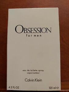 N139 Calvin Klein OBSESSION for Men Cologne 4.2 Fl Oz