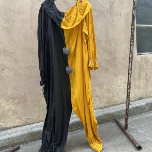 Antique 1920s 1930s Yellow & Black Clown Costume J