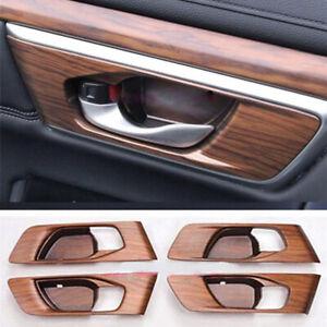 4Pcs-Car-Peach-Wood-Grain-Bowl-Panel-Covers-Trim-For-Honda-CRV-CR-V-2017-2018