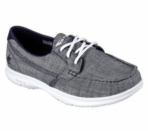 Details about New Womens Skechers Go Step Marina Boat Shoe Style 14415 Navy 90E dr