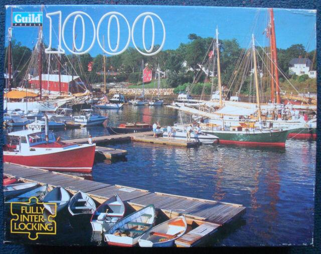 jigsaw puzzle 1000 pcs Guild Camden Harbor ME boats fishing yachts