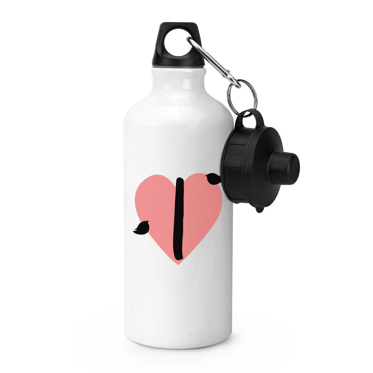 LETTRE i heart alphabet alphabet heart Sports Bouteille Boissons Camping fiole Saint Valentin d2bfaf