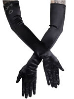 Long Black Evening Opera Gloves Gothic Wedding Victorian Burlesque Cosplay