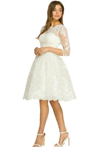 50 Prom demoiselle 8 London Katya 3 mariée 16 4 manches en Chi de de Robe dentelle d'honneur p7qPOU