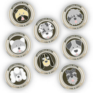 BRAND-NEW-Golf-Ball-Marker-Hand-Made-Ball-Markers-Cute-Dog-Design-Free-Shipping