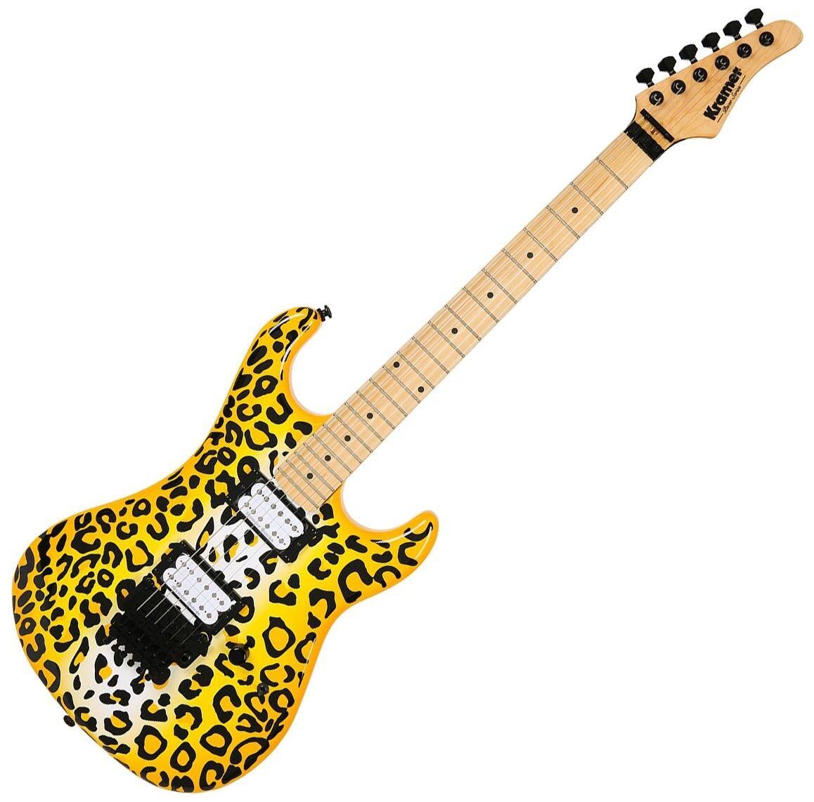 Kramer Pacer Vintage Steel Panther Satchel Signature Guitar Gelb Leopard