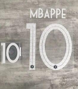 Flocage équipe de FRANCE  MBappe 10 ⭐️⭐️ Domicile Nameset. Livraison Rapide .