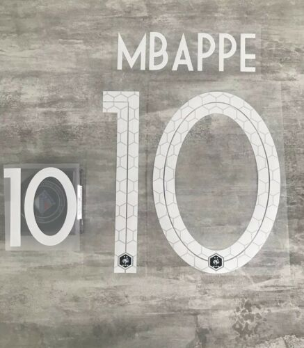 Flocage équipe de FRANCE  MBappe 10 ⭐️⭐️ Domicile Nameset Livraison Rapide .