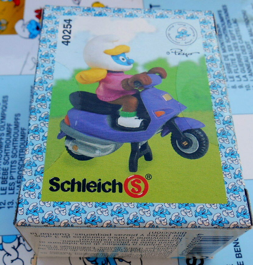 40254 schtroumpfette  scooter pitufos smurf puffo puffi original  schtroumpf box