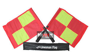 Deluxe-Premier-Linesman-Flags-Set-Football-Rugby-Hockey-Training-Referee-Flags