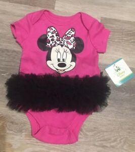 1e07dad4f52a Details about NWT Disney Baby Minnie Mouse One Piece Bodysuit 3 - 6 Months  Pink  231