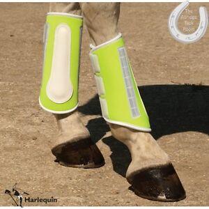 HIGH-VIZ-Harlequin-Reflective-Brushing-Boots-BE-SAFE-BE-SEEN-3-Sizes