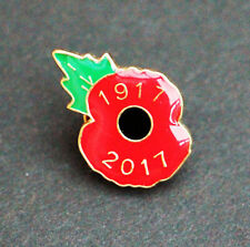 GENUINE POPPY PIN Badge 1917-2017