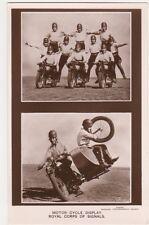 Royal Tournament Motor Cycle Display, Royal Corps of Signals RP Postcard, B608