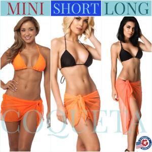 7571294d585 Coqueta playa bikini sarong Cover Up Swimwear SEXY ORANGE mesh Pareo ...