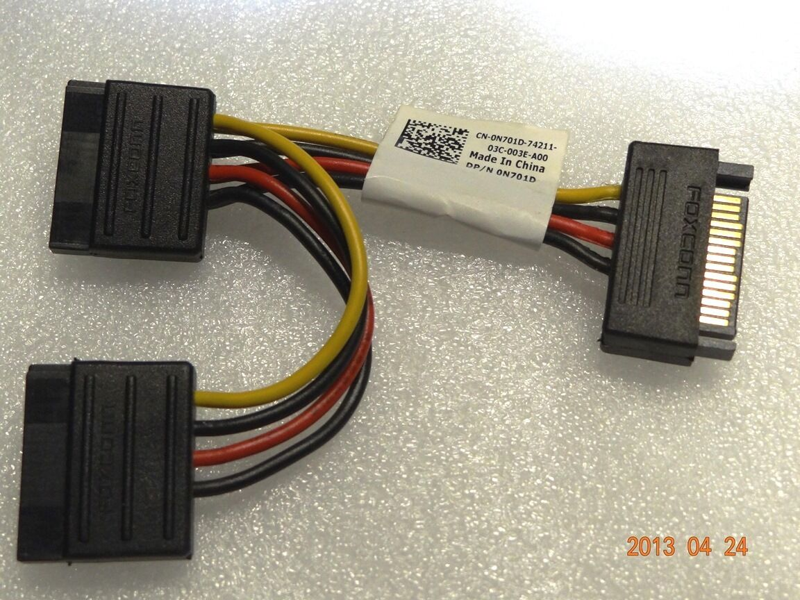"""Lot of 8 Dell N701D SATA Power Connector Splitter Adapter 3.75/"""" Cable"""