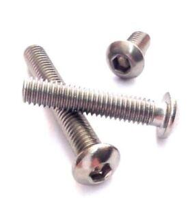 M4//4 mm A2 Vite a testa Bottone Incavo Allen Key le viti in acciaio inox