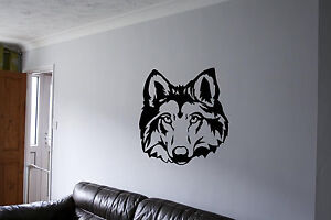 Wolf Wall Art wolf wall sticker wall art vinyl decals wall decor wall stickers