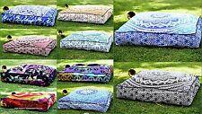 5 PC Wholesale Lot Indian Square Floor Pillow Cotton Pouf Mandala With Insert