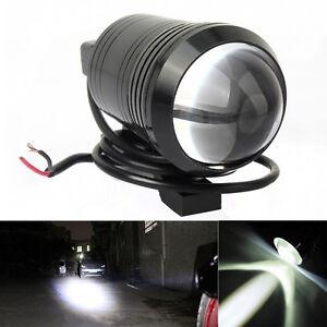 "2x Motorcycle U1 Cree LED 15W(3"" length) Bike Fog Spot Light Lamp WHITE/RED"