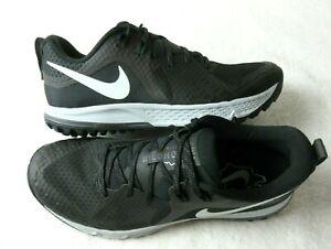Nike-Mens-Air-Zoom-Wildhorse-5-Trail-Running-Shoes-Black-Thunder-Grey-Size-8