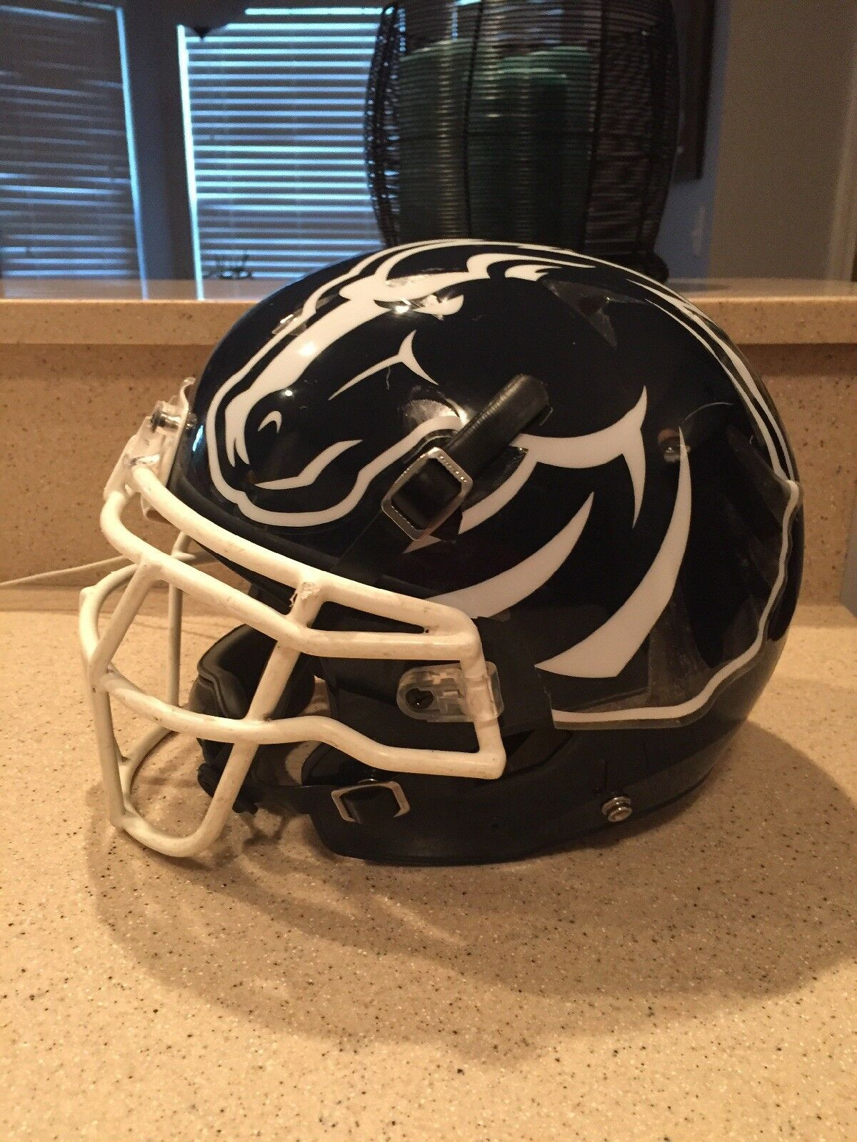 BOISE STATE FOOTBALL HELMET WITH DECALS