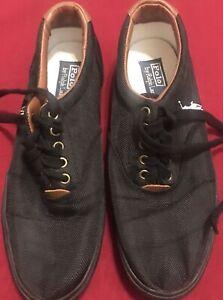 Canvas Zwart Polo 10d Euc Ralph Vaughn schoenen Lauren Casual 1c3TlFKJ