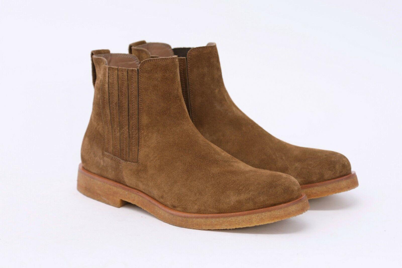 grandi prezzi scontati NWOB 1375 1375 1375 Brunello Cucinelli Uomo 100% Leather Suede Chelsea stivali 42 8.5US A191  prezzo all'ingrosso