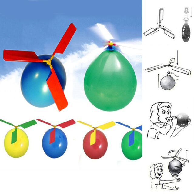 New Funny Balloon Helicopter Flying Educational Toys Kids Boys Girls Gift