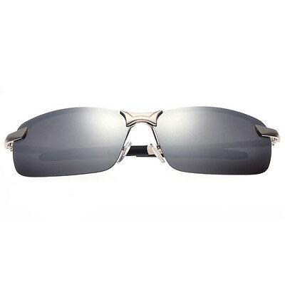 Mens Polarized Aviator UV400 Mirrored Sunglasses Driving Outdoor Sports Glasses