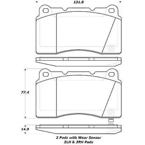 StopTech 308.10010 Front Street Performance Brake Pad