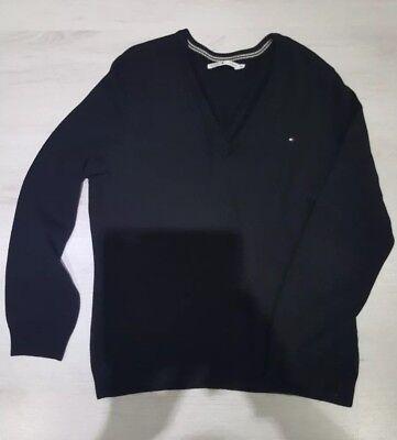 100% Wahr Tommy Hilfiger Baumwolle Pullover V Ausschnitt 100% Baumwolle