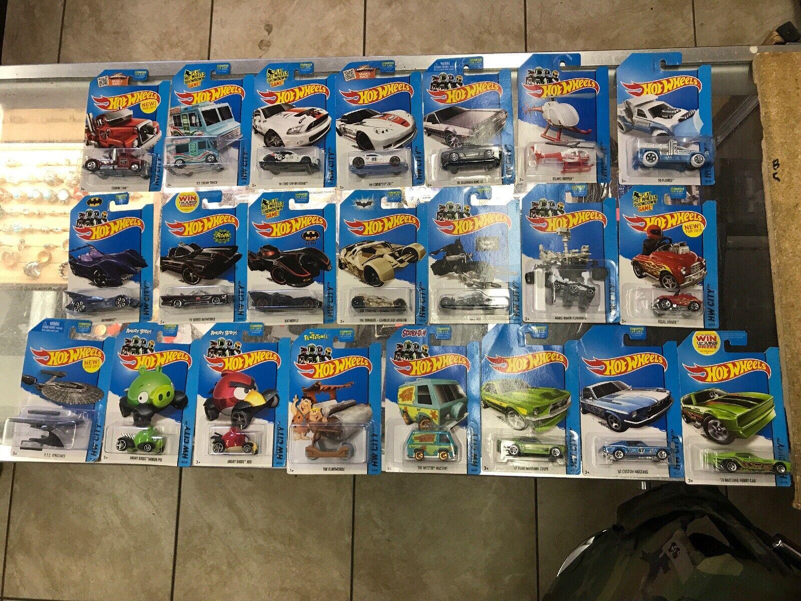 NOUVEAU   2013 Mattel Hot Wtalons HW CITY 22 Voiture Collection Lot Set Bundle  achats en ligne et magasin de mode