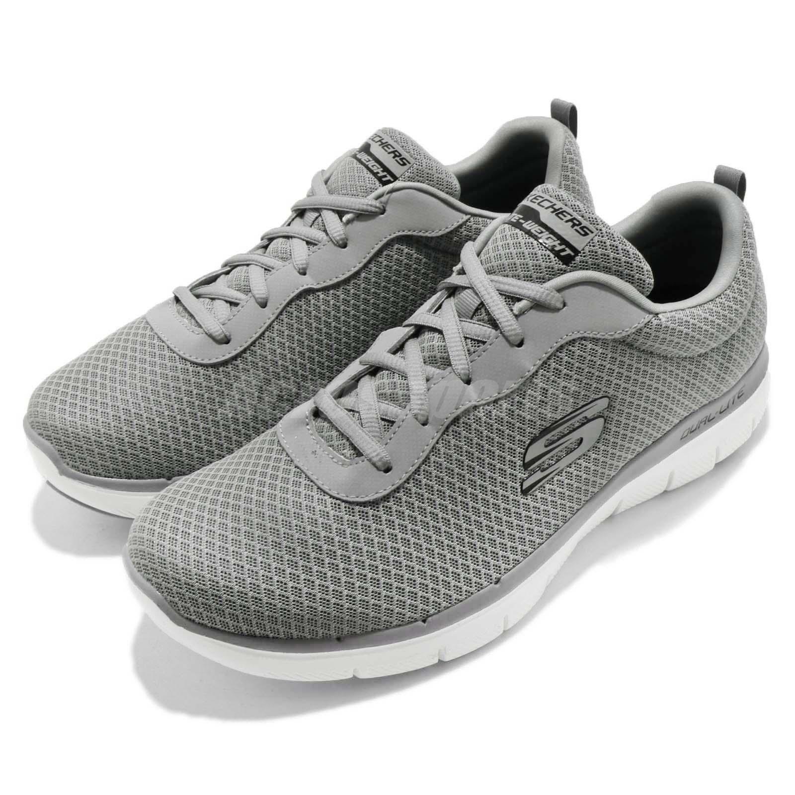 Skechers Flex Advantage 2.0 Dayshow gris blanco Men Walking zapatos 52125-GRY